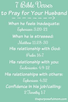 7 bible verses to pray for your husband