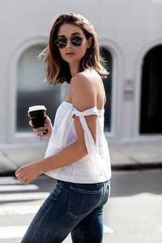 by Stefania Ghionea Off-the-shoulder tops are a major trend this Summer! Here are 19 outfits that will inspire you to wear yours! 1.  See original post/ Follow Horkruks on Bloglovin' 2.  See original