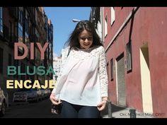 DIY Blusa de gasa y encaje (patrones gratis de ropa mujer) - YouTube