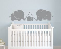 This Elephant Family Wall Decal Feature A Cute Elephants Family, That Shows  Love As We Show To Our Family. Give This Amazing Touch Of Integrity And  Love To ...
