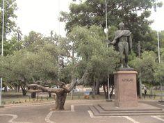 Monumento a Artigas hoje, praça artigas, Rivera, Uruguai.