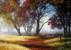 Autumn Colors Original  Oil Painting by Vickie Wade
