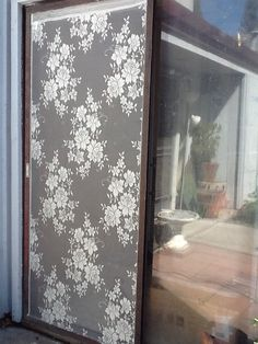 Needed a new screen door. Had an old lace window panel. Came out great and soooo easy.