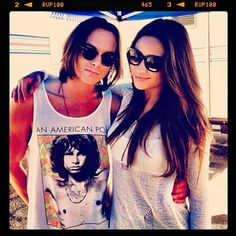 Shay Mitchell (Emily) and Tyler Blackburn (Caleb) behind the scenes of Pretty Little Liars. #PLL