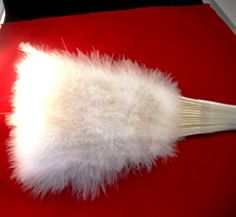 White Feather Fan by VintageNappingCat on Etsy, $12.99