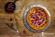 Aujourd'hui je vous propose une tarte rustique avec une crème d'amandes et des framboises. Une tarte hyper rapide et très simple à réaliser. Pratique par ces chaleurs on ne restera pas ainsi 2 heures dans la cuisine et on préféra profiter des vacances ! #amande #framboise