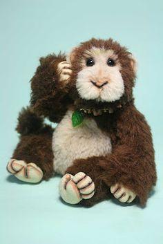 My latest monkey, Chappy.  Making him makes me happy ^.^