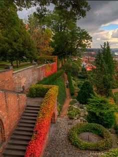 4 hours by train from Berlin...The Gardens of Prague Castle