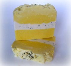 Homemade Soap Lemon Sugar Goats Milk Soap made by NorasSoapScents