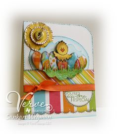 Bright and cheerful Easter card. Love the sun!