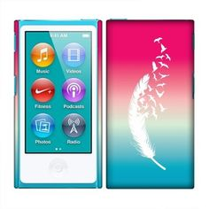 Apple iPod Nano 7 (7th Generation) Case, Fincibo (TM) Back Cover Hard Plastic Protector, Pink And Blue Birds Of A Feather, http://www.amazon.com/dp/B00KTUIIV4/ref=cm_sw_r_pi_s_awdm_Z-PJxbX76H1PY