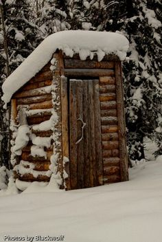 Outhouse.......let's visit here in summer instead