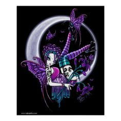 Paige Butterfly Moon Rainbow Fairy Poster