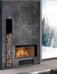 9 Fascinating Useful Ideas: Fireplace Design 2017 fireplace living room house plans.Limestone Fireplace Coffee Tables farmhouse fireplace and tv.Fireplace And Mantels Window. Concrete Fireplace, Home Fireplace, Fireplace Surrounds, Fireplace Ideas, Fireplace Modern, Traditional Fireplace, Classic Fireplace, Grey Fireplace, Simple Fireplace