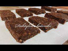 Batoniki 🍪 / wegańskie, zdrowe, pyszne i proste - YouTube Almond, Pudding, Cookies, Chocolate, Desserts, Cacao, Food, Youtube, Instagram