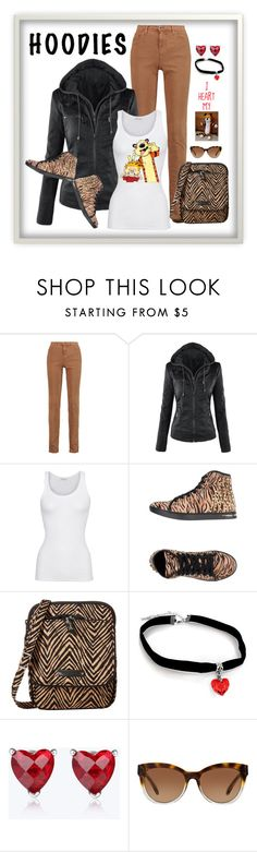 """""""Hoodies!  I heart my tiger."""" by ms-ironickel ❤ liked on Polyvore featuring Alice + Olivia, American Vintage, PrimaDonna, Vera Bradley and Michael Kors"""