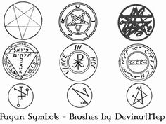 WICCA SYMBOLS AND SIGNS | Pagan Symbols Brushes 7.0 by *DeviantNep on deviantART