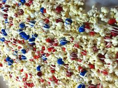 Red white and blue popcorn!!
