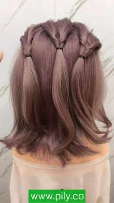 Short Hairstyles For Thick Hair, Short Wavy Hair, Short Wedding Hair, Braids For Short Hair, Girl Short Hair, Easy Hairstyles, Office Hairstyles, Anime Hairstyles, Stylish Hairstyles