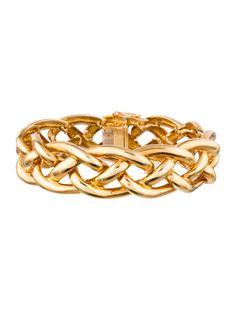 18k Gold Braided Bracelet Bracelets Bangles