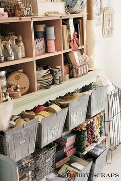 I do believe this is similar to how i would store... kinda messy, but look at all the great junk!