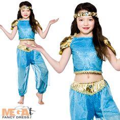 Arabian Nights Princess Girls Fancy Dress Fairytale Jasmine Child Costume Outfit | eBay