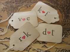 Custom Wedding Favor Tags with Initials. by DesignsByWaxPoetic, $37.50