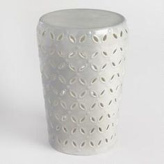 Gray Punched Metal Lili Drum Stool