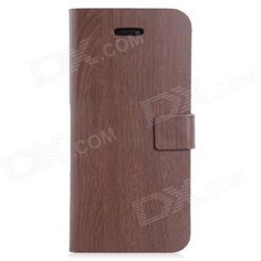 Brand: N/A; Quantity: 1 Piece; Color: Brown; Material: PU Leather; Compatible Models: Iphone 5S / 5; Other Features: Protects your Iphone from scratches dust shock and abrasion; Can be as stand for comfortable viewing; Packing List: 1 x Protective case; http://j.mp/1peQ1EU