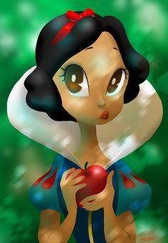 fan art-snow white by Gorillaz520