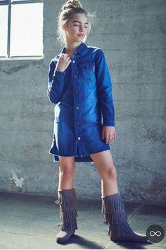CELEBRIDADES FEMENINAS Por E TValens: Jade Weber: De los encantos en el modelaje que esta creciendo verdaderamente hermosa. Jade Weber, Figure Model, The Most Beautiful Girl, Cool Kids, Actresses, Shirt Dress, Denim, Portrait, Sexy