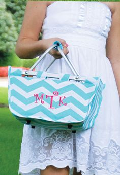 Found it ~ the perfect tote for potlucks or delivering meals to new neighbors! So much cuter than an old target bag.