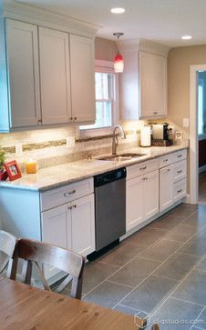 Counters and pendant light : White Kitchen Cabinets - contemporary - kitchen - minneapolis - CliqStudios Cabinets