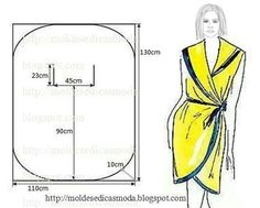 Dress / robe / dress with simple cut and sewing mold - Michelle Gaines Dress Sewing Patterns, Sewing Patterns Free, Free Sewing, Clothing Patterns, Sewing Hacks, Sewing Tutorials, Sewing Crafts, Techniques Couture, Sewing Techniques