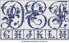 Free Easy Cross Pattern Maker PCStitch Charts Free Historic Old Pattern Books: Sajou No 604 Cat Cross Stitches, Cross Stitching, Cross Stitch Letters, Easy Cross, Embroidery Letters, Vintage Monogram, Cross Patterns, Letters And Numbers, Le Point