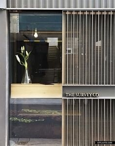 The Survey Co Restaurant in Brisbane / Richards & Spence - Nice entrance gate Wayfinding Signage, Signage Design, Facade Design, Door Design, Wall Design, Divider Design, Retail Facade, Shop Facade, Building Facade