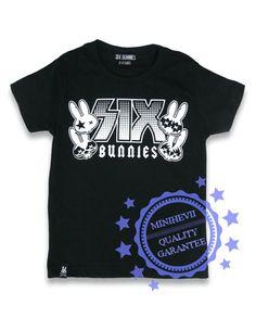 SIX BUNNIES Rock Group t-paita
