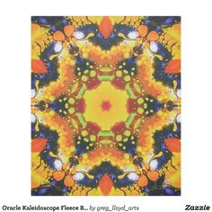 Oracle Kaleidoscope Fleece Blanket. 30% OFF SITEWIDE Use CODE GIFTYOURSELF 'til 12/31/16 11:59pm PT. Wrap yourself in this exotic fleece and be transported to a psychedelic dreamland. Kinetic Collage kaleidoscope compositions are created from special effects video performance art screen capture images. Over 3000 products at my Zazzle online store. Open 24/7 World wide! http://www.zazzle.com/greg_lloyd_arts*?rf=238198296477835081