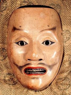 Photographic Print: Noh mask representing a samurai, Japan, 1390 by Werner Forman : Theatre No, Noh Theatre, Cherry Blossom Japan, Cherry Blossoms, Japan Icon, Chinese Armor, Japan Sakura, Japanese Mask, Tokyo Night