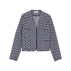 Buy hush Marquez Jacket, Navy, Ecru Online at johnlewis.com