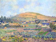 The Mount Riboudet in Rouen at Spring - Claude Monet