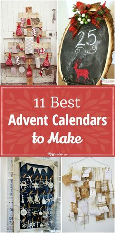 11 Best Advent Calendars to Make via @tipjunkie #adventcalendar