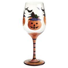 Pumpkin Goblet Glass