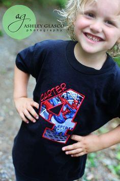 Spiderman Super Hero Birthday Shirt by ThatsSewCute on Etsy, $20.00
