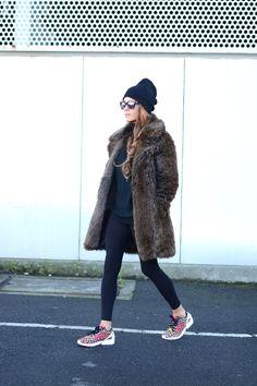Fuzzy Winter Coats: Stella Wants To Die is wearing a faux fur fluffy winter coat