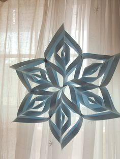 Here is the paper snowflake I made
