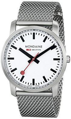 Women's Wrist Watches - Mondaine Womens A6723035116SBM Simply Elegant Steel Band Watch * For more information, visit image link.