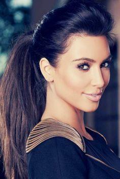 Kim Kardashian | Beauty. I love her hair right now