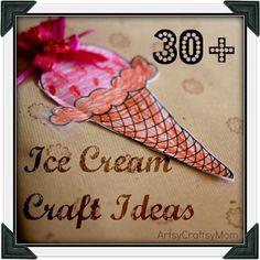Artsy Craftsy Mom: Ice Cream Craft Roundup - 30+ ideas
