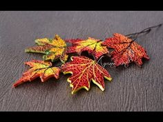 (22) Quilling Tutorial - Fall Leaves (Fall Wreath - part 1 of 6) - YouTube